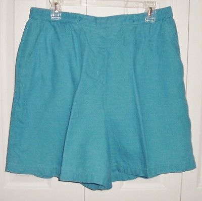 Westbound Blue Linen Walking Shorts Size L