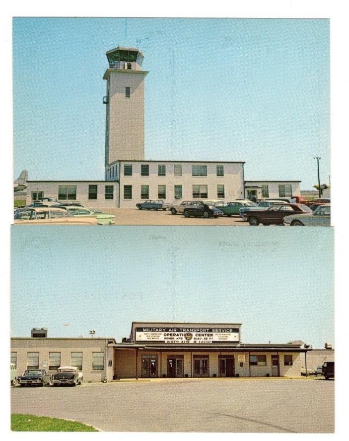 2 Dover Air Force Base,Dover,Delaware,Postcards (Circa 1960's)