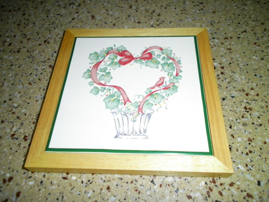 Corelle Christmas Callaway TRIVET HOT PAD PLATE or CERAMIC WALL TILE