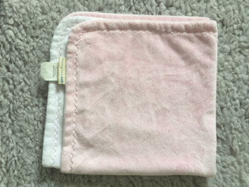 Pottery Barn Kids Pink Chamois Stroller Blanket Baby Lovey Security 24