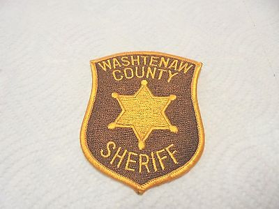 vintage cloth shoulder patch washtenaw county sheriff michigan police