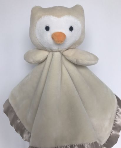 Target Limited Edition Owl Cream Satin Minky Baby Security Blanket Lovey 14