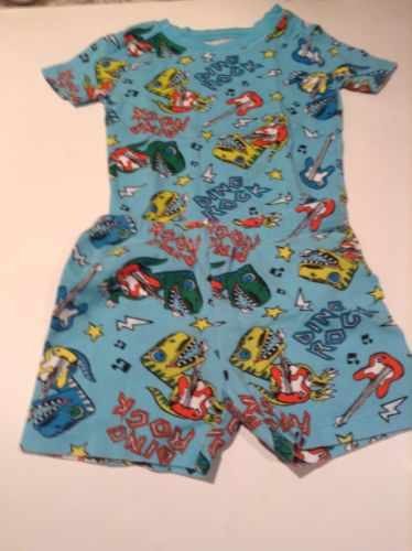 Childrens Place 5 Boys Girls Kids PJs Pajamas Sleepwear Shorts SS Dino Rock Blue