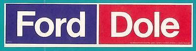 Ford Dole Bumper Stickers from 1976 Presidential Campaign Gerald Ford & Bob Dole