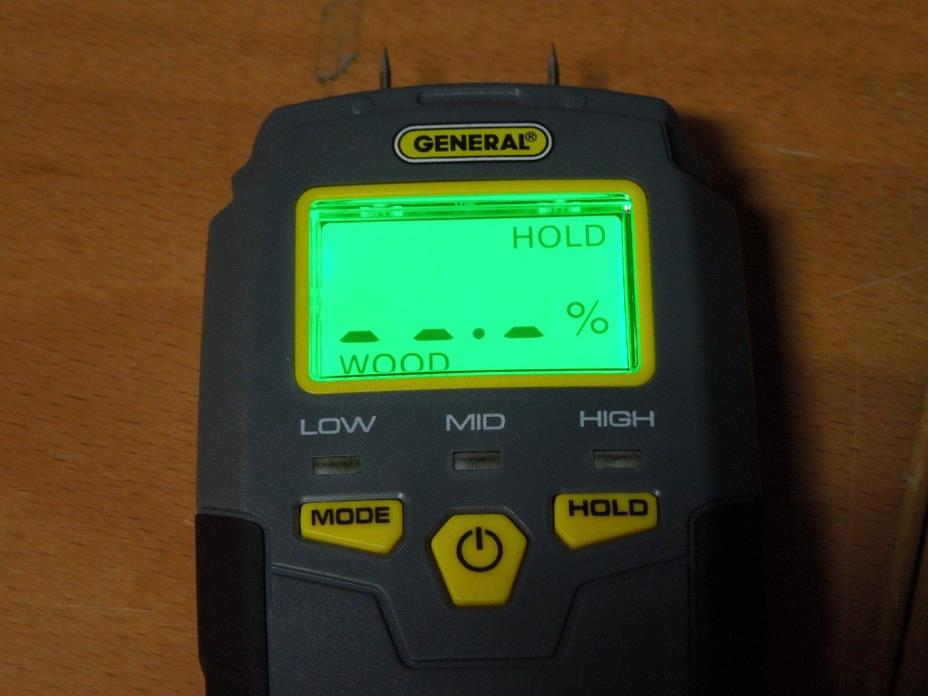General Tools MMD4E Pin Type Moisture Meter with Backlit Digital LCD