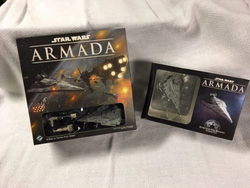 Star Wars Armada Core Set - Like New; New  Victory Class Star Destroyer