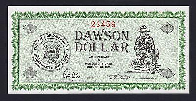 Canada 1985-1987 Local Currency DAWSON Dollar Ladder Serial 23456 UNC Rare