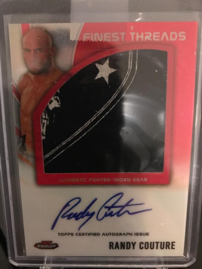 Ufc Topps 2012 Finest Fight Mat Jumbo Autographed Randy Couture