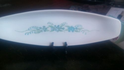 Iroquois china Impomptu by Ben Siebel 15 inch celery dish blue floral