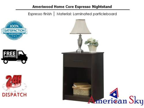 Ameriwood Home Core Espresso Nightstand