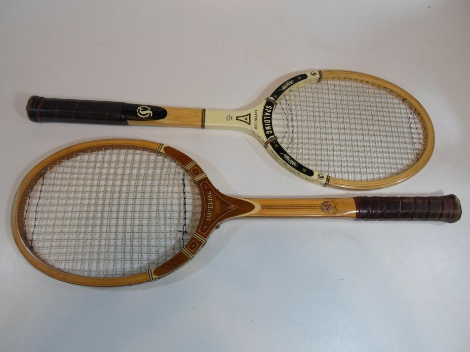 Wood Tennis Racket Racquet Vintage Wooden Spalding Interclub Imperial