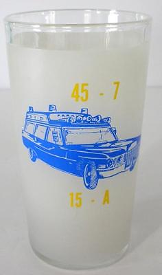 1972 Parkside Fire Co. Ambulance Housing Brookhaven PA. Collector Glass