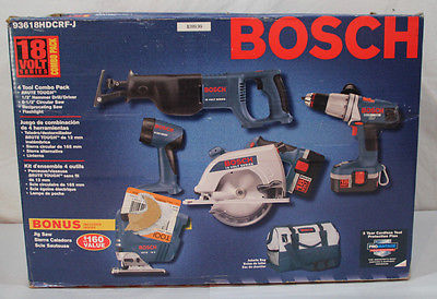 Bosch Drill Circular Saw Reciprocating Saw Jig Saw Flash Light Combo Pack Value