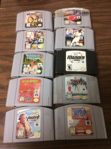 n64 game lot Of #10 , As Is