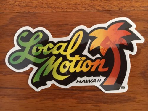 Local Motion Surfboard sticker Surfboards vintage style surfing decal surf