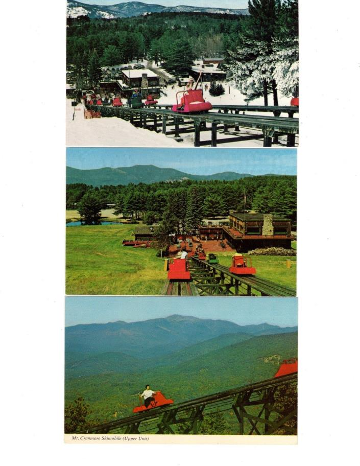 3 Mt. Cranmore Skimobile,North Conway,New Hampshire,Postcard Lot
