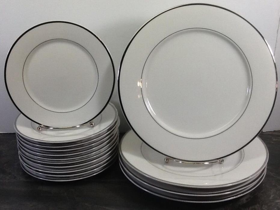 International Silver Company fine China  Dinner Plates Silver Band