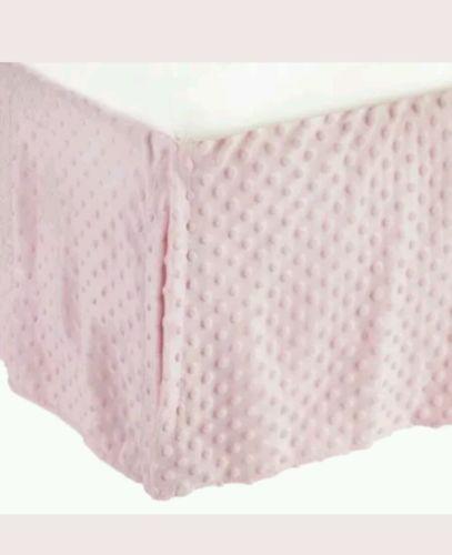 American Baby Company Heavenly Soft Minky Dot Tailored Crib Skirt, Pink