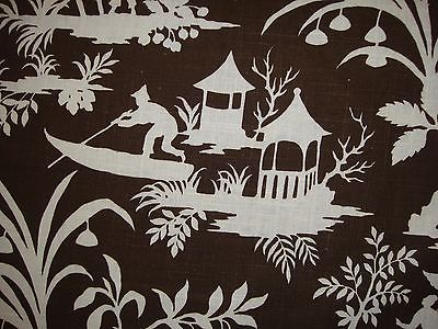 Robert Allen Brown & White Canton Fabric, 10 Yds, NEW