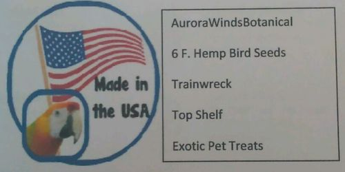 6 F. Hemp Bird Seeds Trainwreck Pet Treats