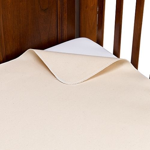 Naturepedic 100% Organic Cotton Waterproof Flat Crib Pad Cover Comfortable