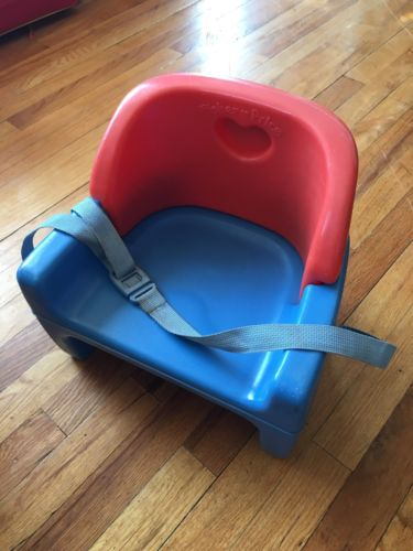 Vintage Fisher Price Grow with Me Booster Seat Red Blue 1990 baby toddler