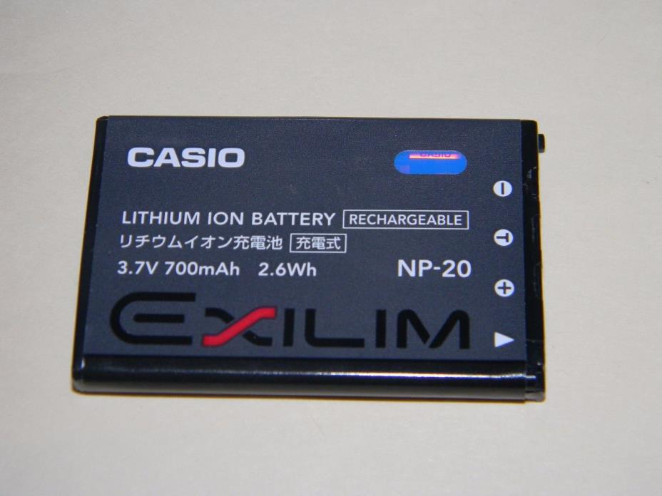CASIO EXILIM NP-20 LITHIUM ION RECHARGEABLE BATTERY FOR THE CASIO DIGITAL CAMERA