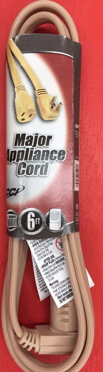 Coleman Cable 3532 14/3 General-Use Appliance Extension Cord  6-Foot  NEW!!!