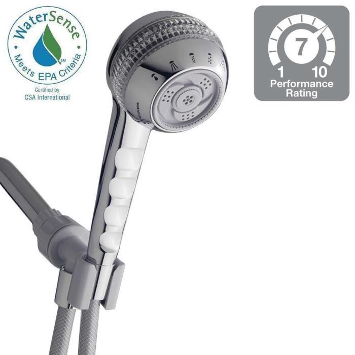 HD336 Waterpik SM-653CGT Original Shower Massage 6-Spray Hand Shower in ChromeC4