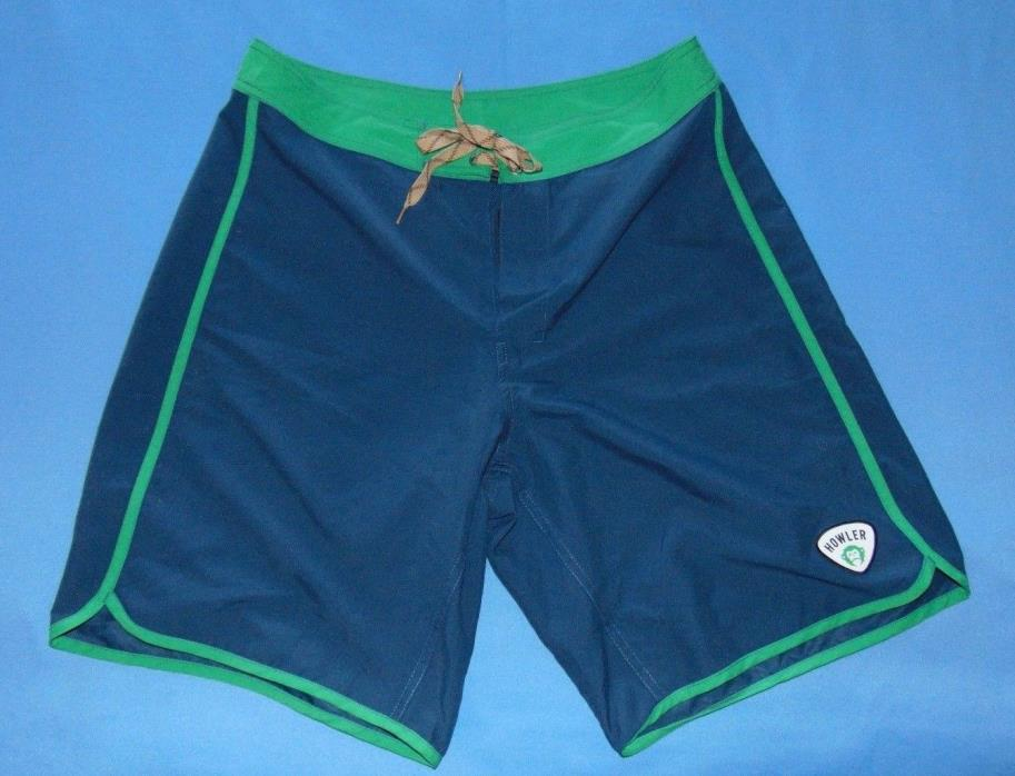 Howler Brothers  Board Shorts  Blue/Green  sz 34
