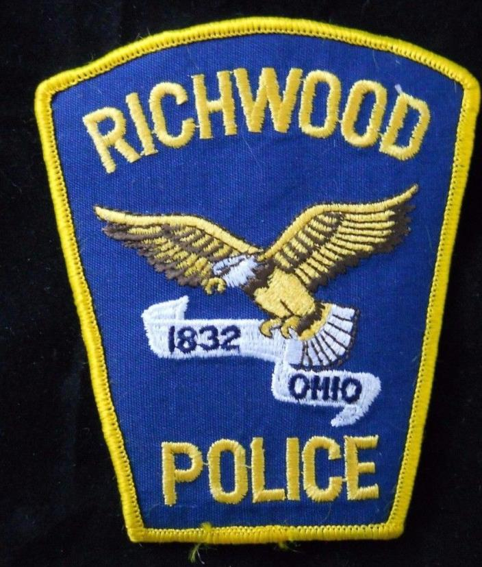 Richwood Ohio Police Department Patch ~ Embroidered ~ New ~ Rare Blue ~