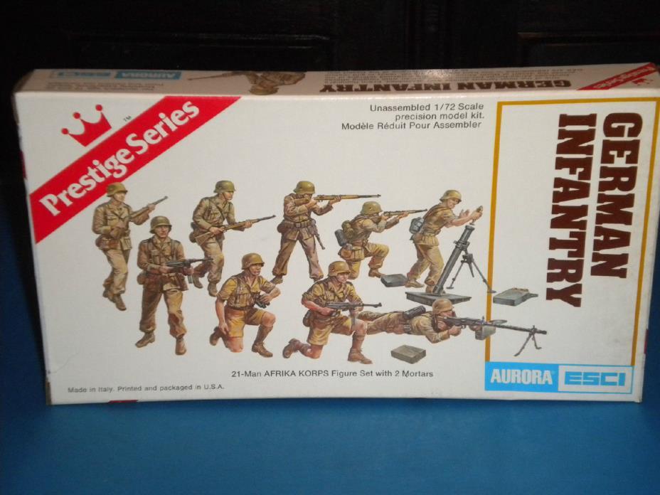 Aurora ESCI 1/72 WWII German Afrika Korps 6211 Open Box