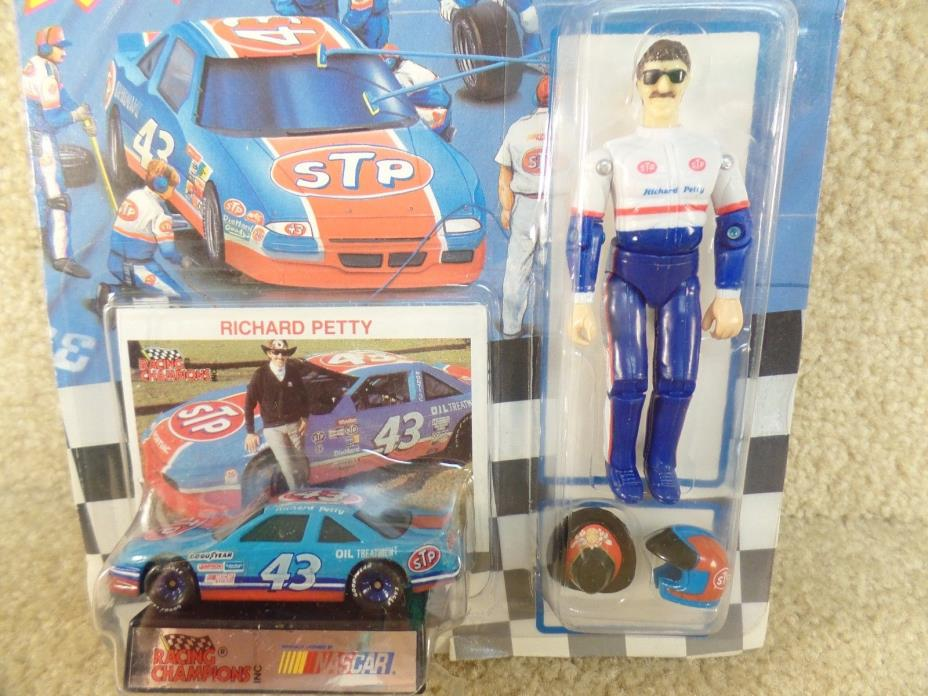 1992 Racing Champions 1/64 Diecast & Action Figure NASCAR Richard Petty STP b