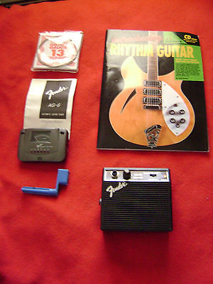 Fender practice portable amp tuner beginners learning guitar rhythm CD lessons