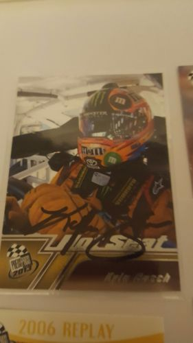 22 card lot Kyle Busch autograped card and inserts plus more