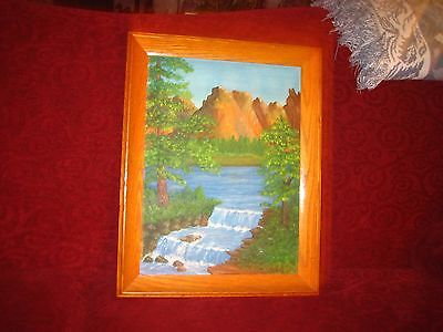 Signed, Framed & Landscape Oil Painting On Canvas  ---1976