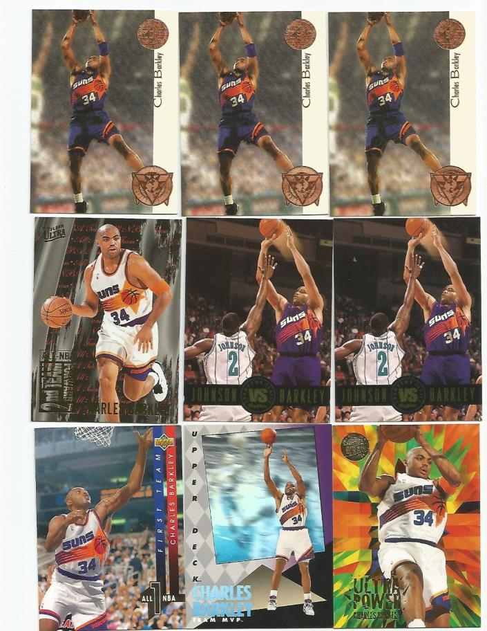 16 Charles Barkley inserts lot Phoenix Suns Fleer sticker SP Championship Heroes