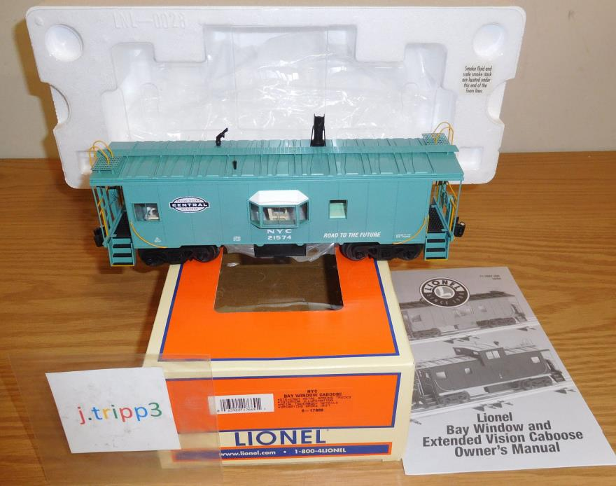 LIONEL 6-17669 NEW YORK CENTRAL NYC BAY WINDOW CABOOSE TOY TRAIN O SCALE SMOKING