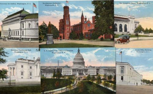 3839: Washington DC Capitol, Buildings 1910s Reynolds UNUSED EXCLT Postcards (6)