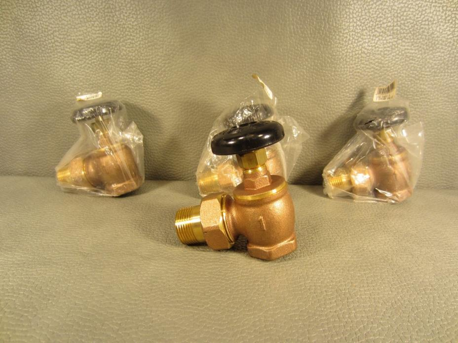 Lot of 4 Brass Brand New 1 inch Steam Angle Valves LEG T431-1