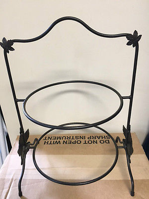 Longaberger Original Wrought Iron Two Tier Pie Rack