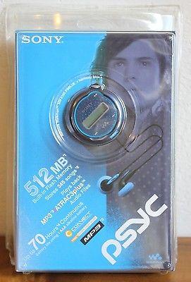 Sony PSYC Network Walkman MP3 Player NW-E105 PSBLUE. NEW SEALED 512MB