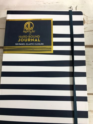 Dabney Lee Striped Journal 120 Pages With Elastic Closure 5.75