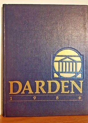 Colgate Darden School University of Virginia 1986 Yearbook Charlottesville, VA