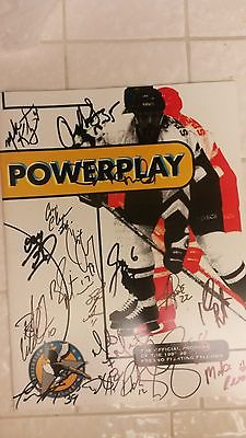 1997-98 Fresno Fighting Falcons Official Program Autographed