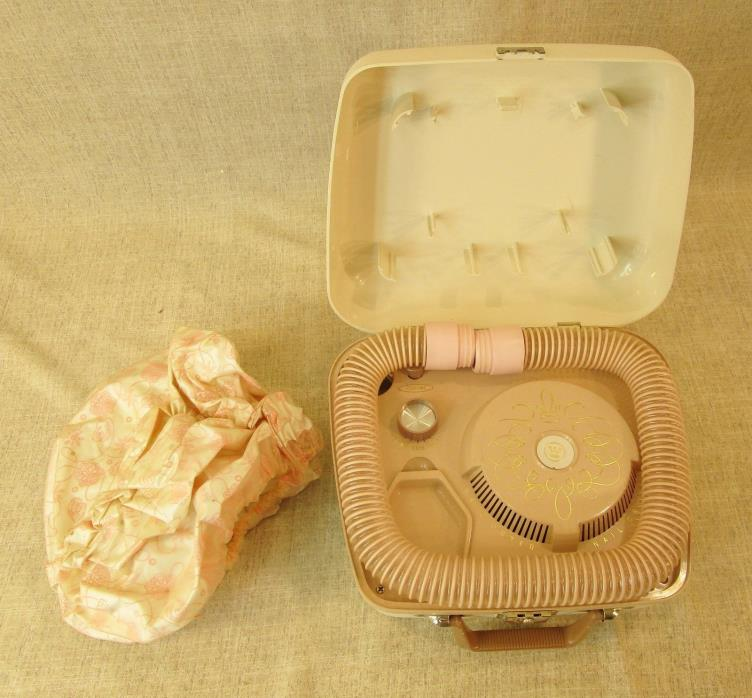 1960'S VTG WESTINGHOUSE HARD CASE PORTABLE HAIR NAIL DRYER SOFT BONNET WORKS EX