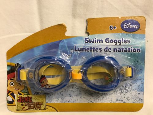 YOUTH SWIM GOGGLES BY DISNEY Jake & The Neverland Pirates NEW IN PACKAGE