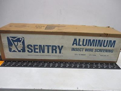 SENTRY Aluminum Insect Wire Screening 18 x 16 Mesh .011 Dia. 100' x 22