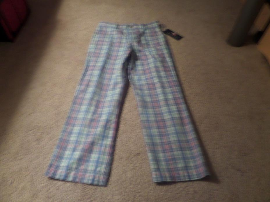 Youth Boys Vineyard Vines Seafeather Plaid Marine Pants Size 8 NWT