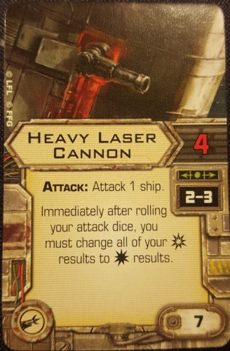 Star Wars X-Wing Miniatures Upgrade Card - Heavy Laser Cannon (Cannon)